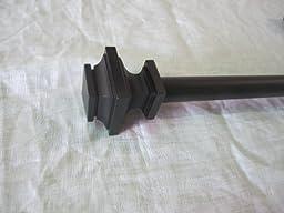 Urbanest Zinc Cast Structure Drapery Curtain Rod Set 3/4\