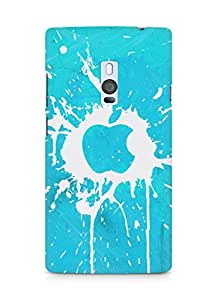 Amez designer printed 3d premium high quality back case cover for OnePlus Two (Apple mac blots surface paint)