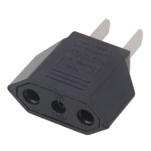 Vamery 5 Pack EU Europe to US USA Travel Power Plug Adapter Converter Black (Plug Converters compare prices)