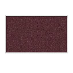 Wall Mounted Bulletin Board Size: 4\' H x 5\' W, Surface Color: Berry