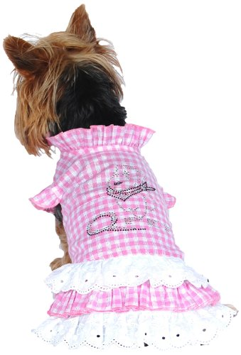 Anima Pink And White Check Country Dress, Large