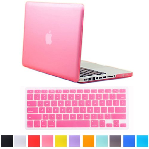 "Hde Matte Hard Shell Clip Snap-On Case + Matching Keyboard Skin For Macbook Pro 13"" (Non-Retina) - Fits Model A1278 (Pink)"