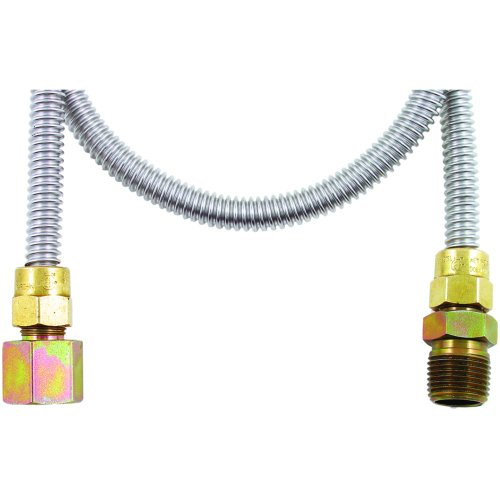 "New Dormont 20-3132-72 Gas Dryer & Water Heater Flex-Lines (1/2"" O.D.; 3/8"" I.D.; 72"" Gas Dryer, Fit"
