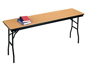 correll narrow folding table 18 wide x 96
