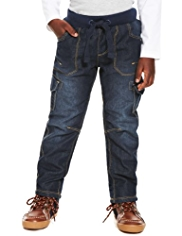 Fleece Lined Pull On Jeans