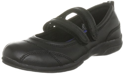 Toughees Junior Siena Black School Shoe 39631460 10 Child UK