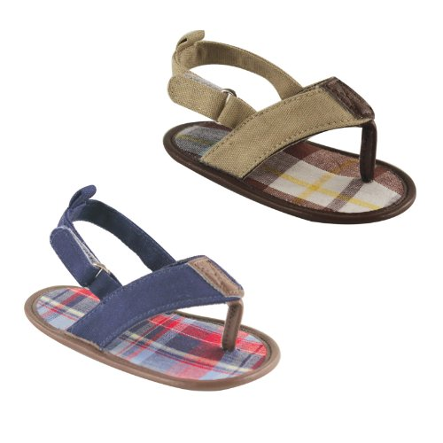 Luvable Friends Boys Plaid Sandal