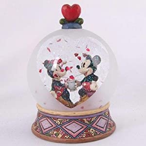 Disney Traditions designed by Jim Shore for Enesco Mickey and Minnie Soda Shop Waterball 6 IN from Jim Shore for Enesco