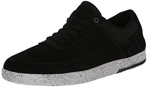 HUF Men's Nagel 2 Skateboarding Shoe, Black/Bone White Speckle, 13 M US