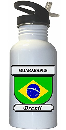 guararapes-brazil-city-white-stainless-steel-water-bottle-straw-top