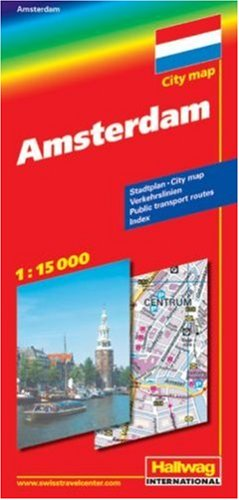 City map Amsterdam 1 : 15 000