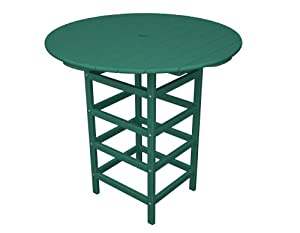 Polywood Outdoor Furniture South Beach 40 Inch Dining Table Aruba Recycled Plastic