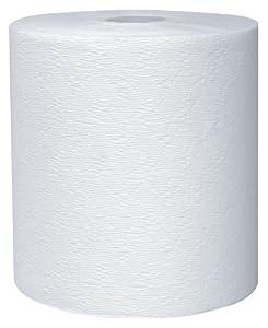 "Kleenex Hard Roll Paper Towel (50606) White, 1.75"" Core, 8"" Width x 600' Length (Case of 6)"