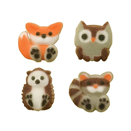 Forest Friends Woodland Animal Sugar Cup Cake Cupcake Decorations 12 count