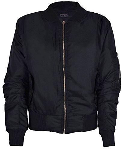 womens-bomber-ziper-jacket-l-black