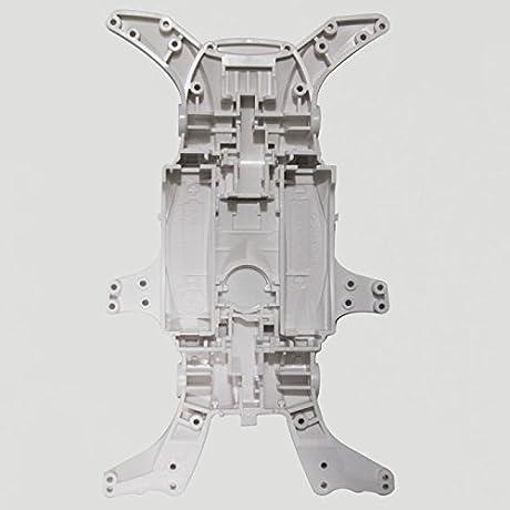 ミニ四駆 MAシャーシ ホワイト 単品販売 ◆アルマイト加工アルミスペーサーサンプル付属◆