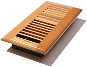 Decor grates wlbe310 n 3 inch by 10 inch wood louver floor for 6x12 wood floor register
