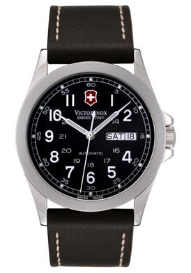 Victorinox Swiss Army Men&#8217;s Infantry Mechanical Self-winding Leather Watch #24695