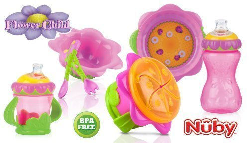 Nuby Flower Child Collection Feeding Set