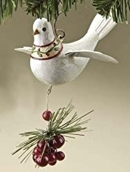 Better Homes &amp; Gardens Woodland Peace Dove With Holly Christmas Ornament