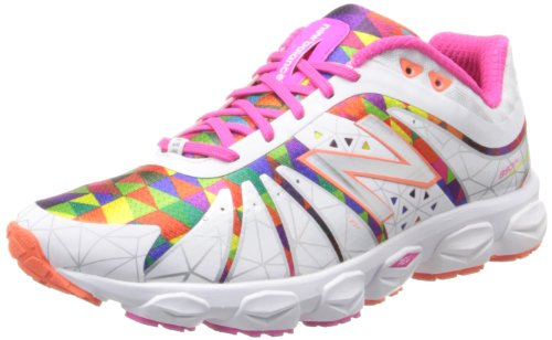 New Balance Women's W890 Alpha Running Shoe,White/Pink,5 B US