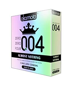Okamoto okamoto 0.04 Zero Zero Four Condoms, 3 Count (pack of 6)