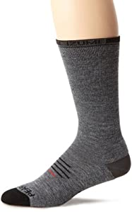 Pearl Izumi Men's Elite Thermal Wool Sock, Shadow Grey, Small