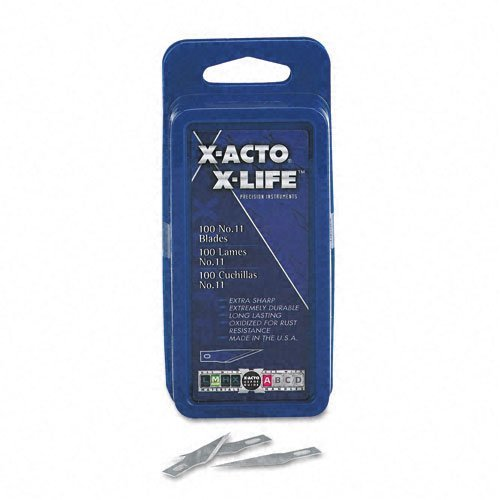 X-Acto Products - X-Acto - #11 Bulk Pack Blades For X-Acto Knives, 100/Box - Sold As 1 Box - Precision-Crafted Of The Highest Quality Carbon. - Blue Oxidized Finish For Rust Resistance. - Designed To Handle A Variety Of Tasks.