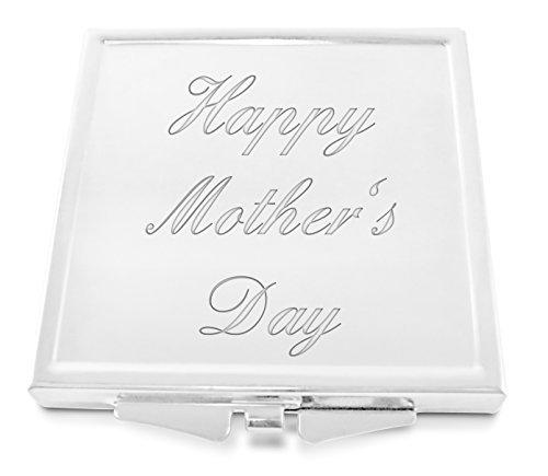 Happy Fête Des Mères gravé femmes place miroir compact avec coffret cadeau - G11