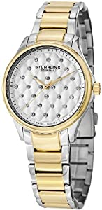 Stuhrling Original Women's 567.02 Vogue Culcita Analog Display Swiss Quartz Two Tone Watch