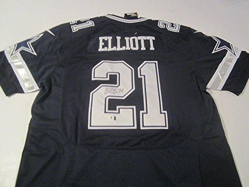 Ezekiel Elliott Dallas Cowboys Hand Signed Autographed Jersey Certified coa