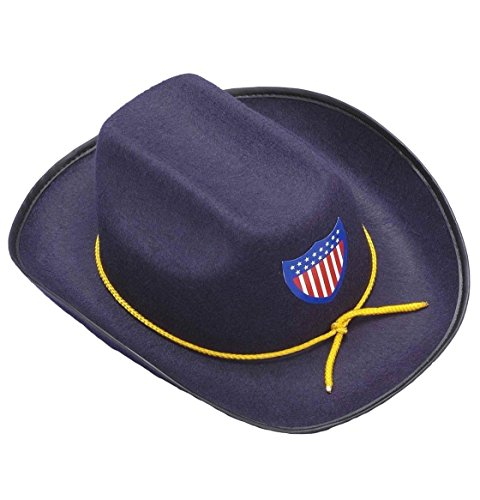 Civil War Union Officer Cowboy Hat Child Costume Accessory Army Soldier Blue New