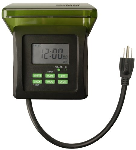 Woods 50015 Outdoor 7-Day Heavy Duty Digital Outlet Timer