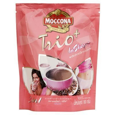 Moccona Trio Plus Inshape Coffee Mix Powder 18g. Pack 10sachets