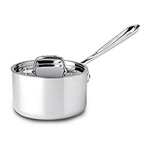 All-Clad 4201 Stainless Steel Tri-Ply Bonded Dishwasher Safe Sauce Pan with Lid / Cookware