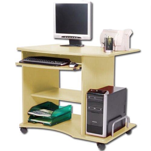 P14838 Scrivania portacomputer per ufficio cameretta 90x55x76 acero