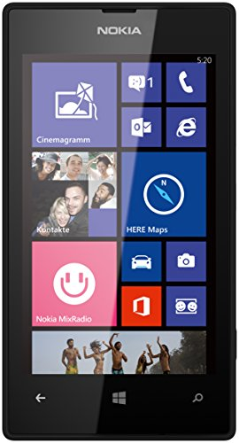 "Nokia Lumia 520 - Smartphone libre Windows Phone (pantalla 4"", cámara 5 Mp, 8 GB, Dual-Core 1 GHz, 512 MB RAM), negro [importado]"