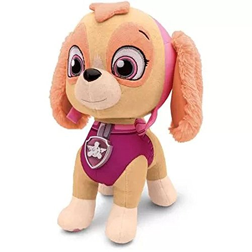 Paw Patrol- Deluxe Lights and Sounds Plush- Real Talking Skye