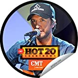"2013 GetGlue CMT Hot 20 Countdown 8.10.2013 Luke Bryan 1.5"" custom sticker NLA"