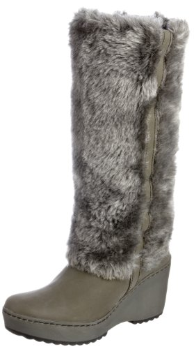 Fly London Women's Mile Military/Grey Fur Trimmed Boots P141987000 5 UK