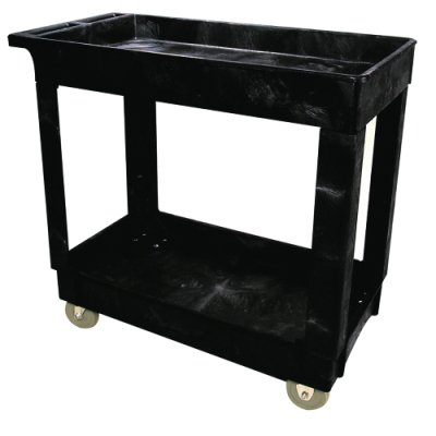 RUBBERMAID Economical Utility Carts - Black