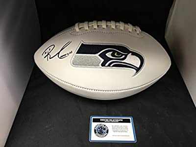 Russell Wilson Autographed Signed Seattle Seahawks Logo Football COA & Hologram
