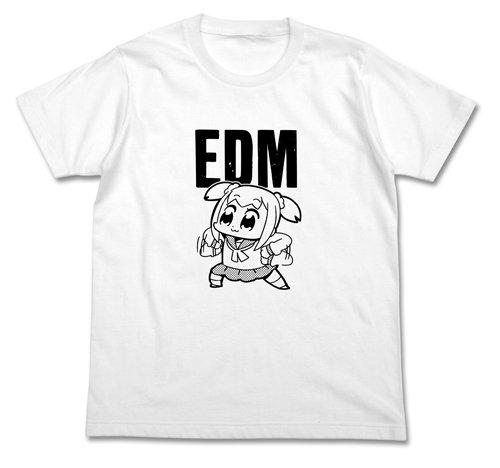 ポプテピピック EDM Tシャツ ホワイト Mサイズ