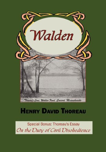 "Walden with Thoreau's Essay ""On the Duty of Civil Disobedience"" book cover"