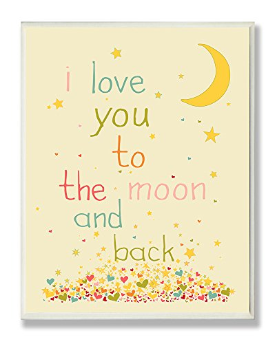 The Kids Room by Stupell I Love You to the Moon and Back Rectangle Wall Plaque