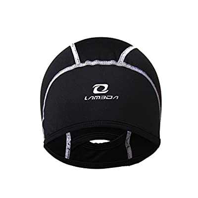 4ucycling Thermal Fleeced 10% Spandex Skull Cap and Helmet Liner with Ponytail Hole