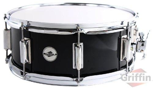 griffin-snare-drum-14-x-55-wood-shell-black-ebony-percussion-poplar