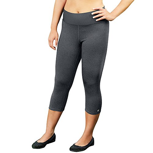 Champion Women's Fusion Capris With Smooth Waistband_Granite Heather_2X (Champion 2x Workout Pants compare prices)