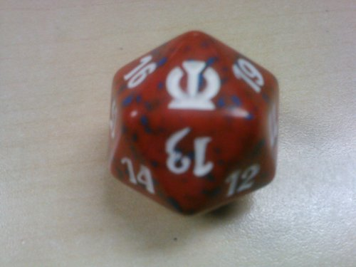 MTG Spindown D20 Life Counter - Theros Red - 1