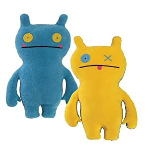 "Ugly Dolls Uglydoll Double Trouble Wage 14.25"" Plush, Blue/Yellow"
